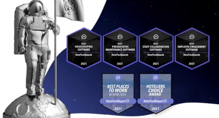 hotelkit freut sich über die vielen Auszeichnungen bei den HotelTechAwards.