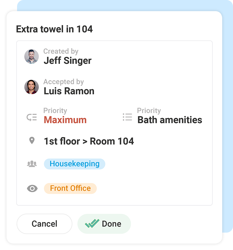 hotelkit Guest Request